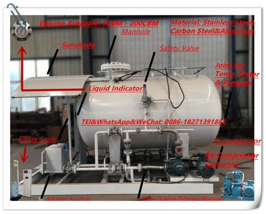 1300 gallons lpg refilling station