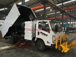 4x2 8000 liters JMC broom sweepers truck
