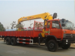 dongfeng 6*4 12 tons XCMG crane truck