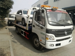 Euro IV Foton flatbed wrecker truck