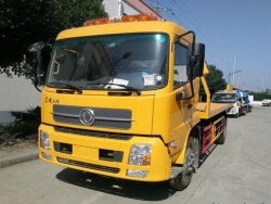Dongfeng 6 ton flatbed wrecker truck