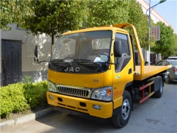 JAC 4X2 flatbed wrecker truck
