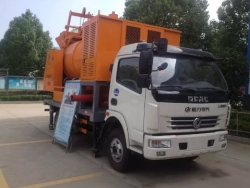 dongfeng concrete mixing pump truck