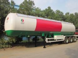 3 axle 12 wheels propane 60000Liter lpg truck trailer