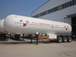 CLW 3 axis liquefied gas transport trailer