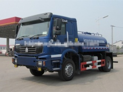 4x4 Howo truck mounted water tank