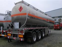 3 axle steel tank trailer transport oil fuel tanker