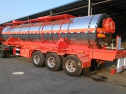 20000 liters sulfur tank trailer