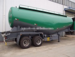 2 axles bulk powder semi trailer