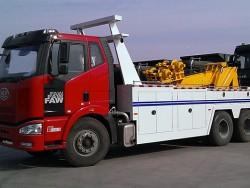 FAW J6 heavy wrecker 3 axles tow truck wrecker