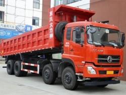 dongfeng dalishen 8x4 dump truck with 12 wheels