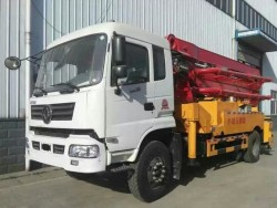 dongfeng 26m used concrete pump truck