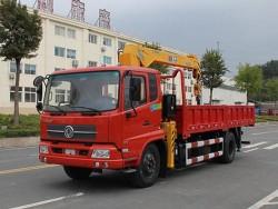 Dongfeng 4x2 5 Tons Tipper Truck Crane