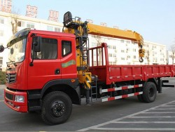 Dongfeng 4x2 Dump Truck With Crane 10 Ton