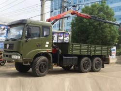 Dongfeng 6x6 Off Road Telescopic Boom Truck Mounted Crane