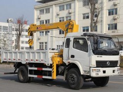 Dongfeng 4x2 Small 3 Ton Dump Truck Crane