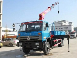 Dongfeng 4x2 6 Ton Hoist Truck Mobile Crane In Kenya