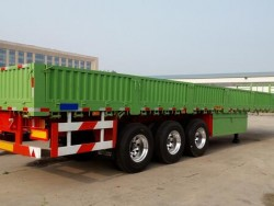 3 Axle 60 Ton Flat Bed Semi Trailer