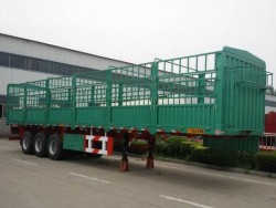 High Quality 3 Axle Fence Semi Trailer
