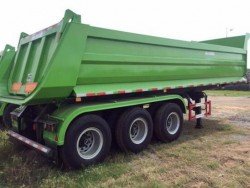 60 Ton Tri Axle Hydraulic end dumping Tipper Trailer truck