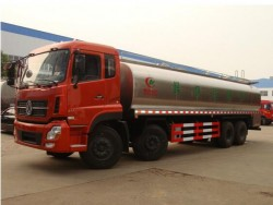 25m3 dongfeng KINLAND 8*4 SUS304-2B stainless steel milk tank truck