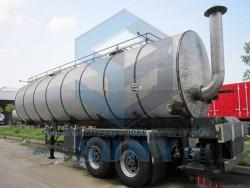 30000 L Bitumen Tanker 2 Axles Flue Heating Tank Trailer