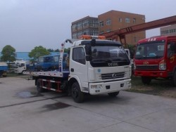 Dongfeng 6 ton Emergency Towing flatbed Truck