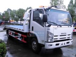 Japan I S U Z U 700P 4X2 4 tons light duty flatbed wrecker tow truck