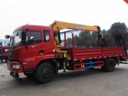 Dongfeng 6.3ton Straight Arm Hydraulic Control Crane Truck