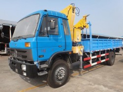 Dongfeng 6*4 Crane Truck with 10 ton Folded crane