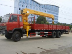 210hp 6x4 dongfeng 12 ton truck mounted crane