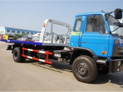 dongfeng 4x2 one tow two flatbed wrecker towing truck