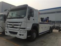 sinotruk howo 60ton 280hp 6x4 heavy wreck tow truck