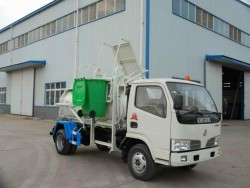 Dongfeng right left driving 4*2 eat hutch garbage truck