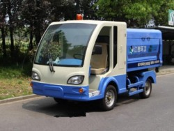 4 wheels Electric hook arm type garbage truck