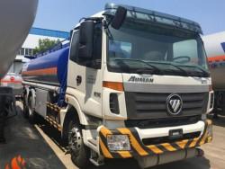 25000 liters 6x4 Foton oil tank truck fuel tanker