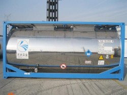 20 feet tank container for nitric acid sulfuric acid ISO tank