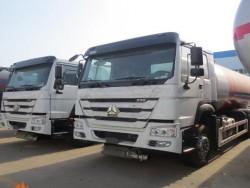 6x4 HOWO 20m3 liters gas cylinder transportation lpg tanker truck