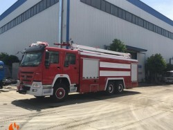 6x4 HOWO 18 meter high spraying foam fire truck