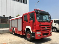 4x2 HOWO 10cbm water and foam fire truck fire fighting truck