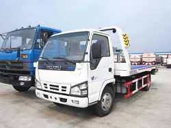 Japan Euro 4 5 tons flat recovery wrecker tow truck trailer car