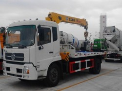 dongfeng flatbed tow trucks wrecker mounted crane