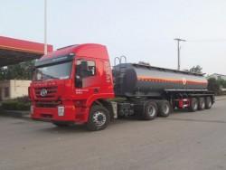 3 axle 42cbm flammable liquid semi trailer