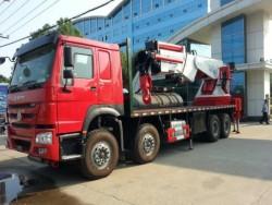 12 wheeler 80 ton howo truck mounted crane