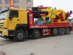 HOWO 120TON Knuckle boom truck mounted crane