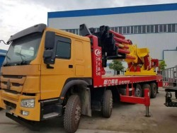 200Tons heavy Knuckle boom truck mounted crane