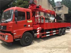 DongFeng 6x4 truck mounted crane 10MT telescopic boom truck