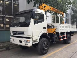 right hand drive RHD/LHD 4x4 truck crane mounted with 6.5 tons crane