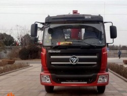 160hp FOTON knuckle boom truck mounted crane