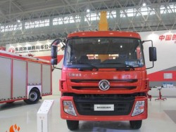 Dongfeng 4x2 170hp dump truck with crane